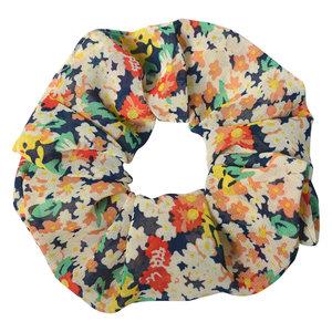 Clayre & Eef Scrunchie Flowers navy