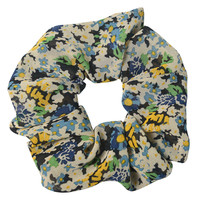 Clayre & Eef Scrunchie Flowers black