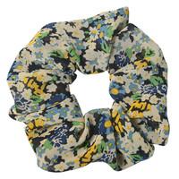 Clayre & Eef Scrunchie Flowers black