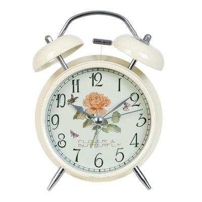 Clayre & Eef Alarm Clock Flower & Butterfly