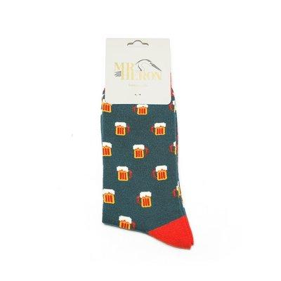 Miss Sparrow Mens Socks Bamboo Beer teal