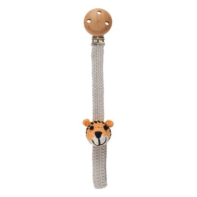 Sindibaba Pacifier clip with Tiger