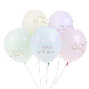Talking Tables Ballons Happy Birthday pastel