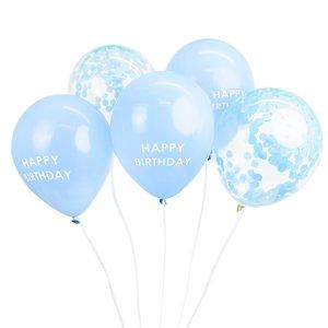 Talking Tables Ballons Happy Birthday Confetti blue