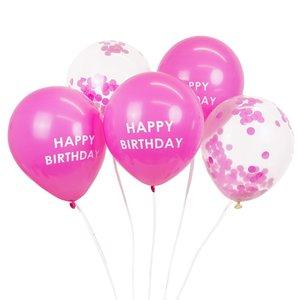 Talking Tables Balloons Happy Birthday Confetti pink