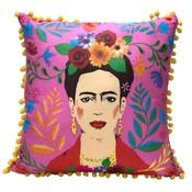 Talking Tables Cushion Frida Kahlo pink