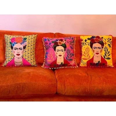 Talking Tables Kissen Frida Kahlo pink