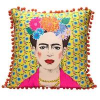 Talking Tables Cushion Frida Kahlo yellow new