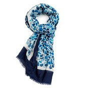M&K Collection Schal Mermaid Scale blue