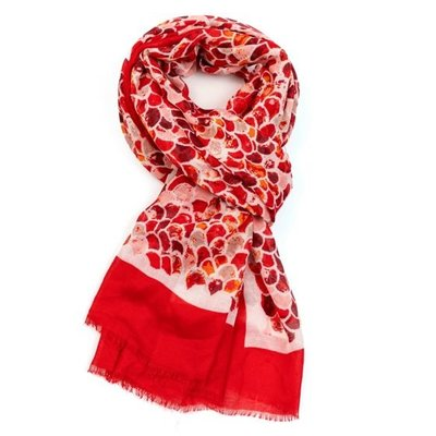M&K Collection Scarf Mermaid Scale red