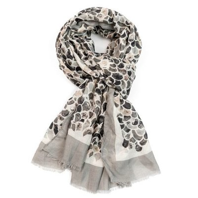 M&K Collection Scarf Mermaid Scale grey
