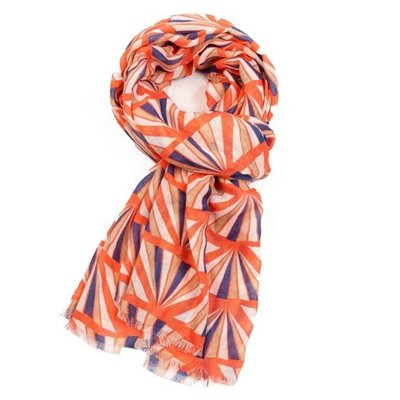 M&K Collection Scarf Geo coral