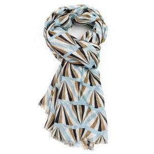 M&K Collection Scarf Geo blue