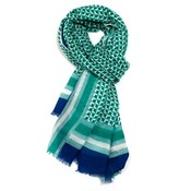 M&K Collection Scarf Squares green