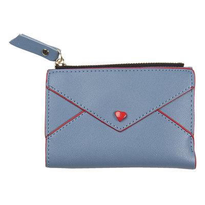 Clayre & Eef Geldbörse Heart blue