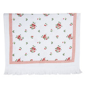 Clayre & Eef Guest towel Checks/Little Roses