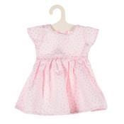 Olimi Doll dress Miniland 38cm Dots pink