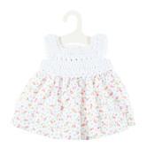 Olimi Doll dress Miniland 32cm Flower/Crochet meadow pale