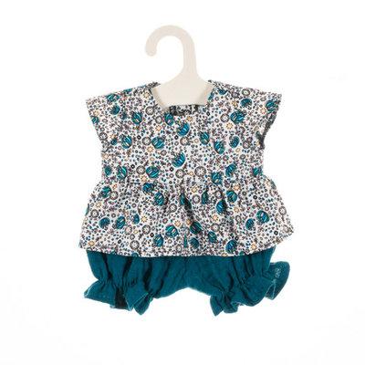Olimi Puppenkleidungs-Set Miniland 38cm Flower turquoise