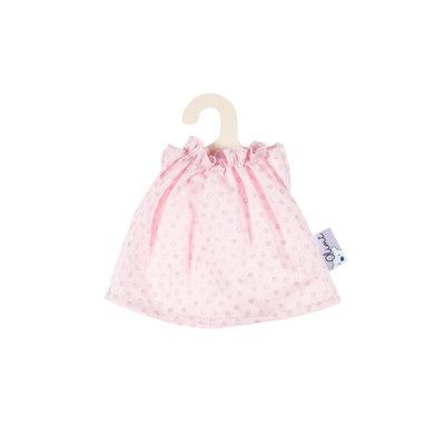 Olimi Doll dress Miniland 21cm Dots pink with silver