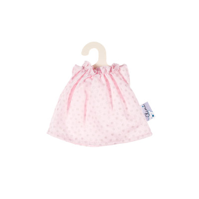 Olimi Puppenkleid Miniland 21cm Dots pink with silver