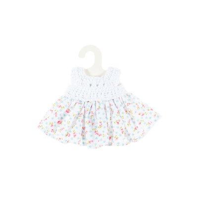 Olimi Doll dress Miniland 21cm Flower/Crochet meadow pale