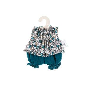 Olimi Doll Clothing Set Miniland 21cm Bloomers flower turquoise