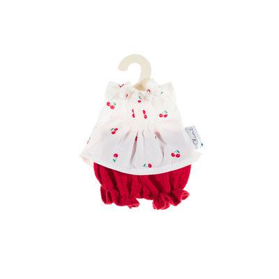 Olimi Doll Clothing Set Miniland 21cm Bloomers cherries