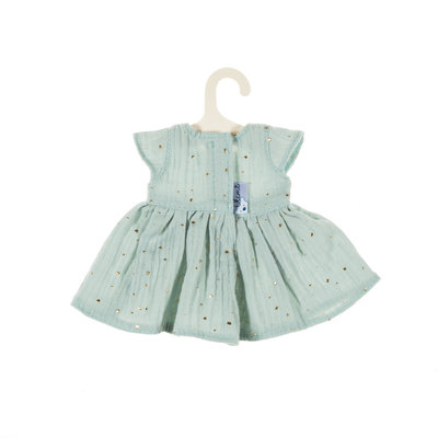 Olimi Doll dress Miniland 32cm Starry Sky mint