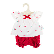 Olimi Doll Clothing Set Miniland 32cm cherries