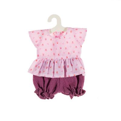 Olimi Doll Clothing Set Miniland 32cm Flower pink