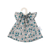 Olimi Doll dress Miniland 32cm Flower turquoise
