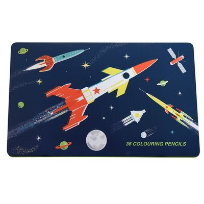 Rex London Colouring Pencils Set of 36 Space Age