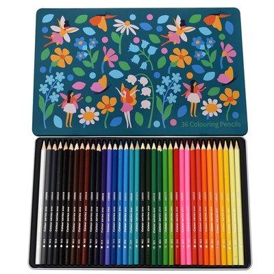 Rex London Colouring Pencils Set of 36 Fairies in the Garden