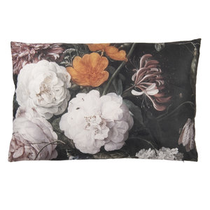 Clayre & Eef Cushion 60 x 40 Flowers large white