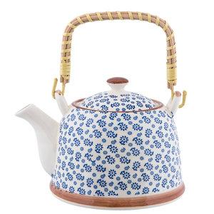 Clayre & Eef Teapot Little Flowers blue