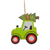 Sass & Belle Christmas hanger Wooden Tractor with Tree