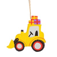 Sass & Belle Christmas hanger Wooden Digger with Gifts