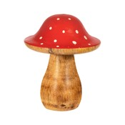 Sass & Belle Christmas Standing Decoration Wooden Toadstool red