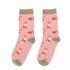 Miss Sparrow Socks Bamboo Foxes dusky pink