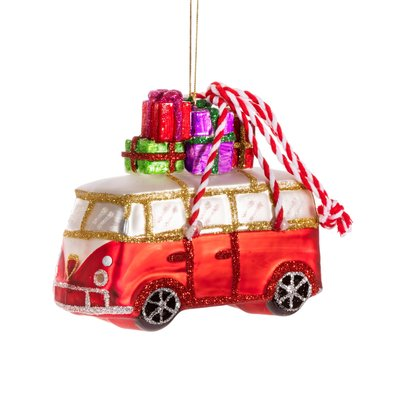 Sass & Belle Christmas Decoration Campervan with Gifts