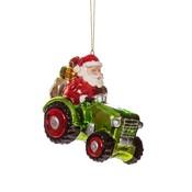 Sass & Belle Christmas Decoration Santa on Tractor