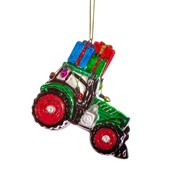 Sass & Belle Christmas Decoration Tractor with Gifts