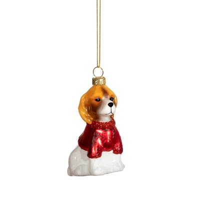 Sass & Belle Christmas Decoration Dog with Jumper