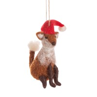 Sass & Belle Christmas hanger Fox with Hat