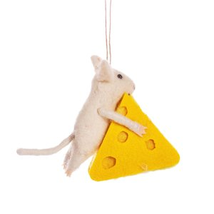Sass & Belle Christmas hanger Mouse with Cheese