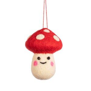 Sass & Belle Christmas hanger Smiley Mushroom