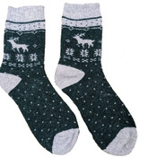 Joya Socks Men Wollmix Doublewarmth Reindeer green