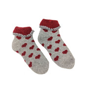 Joya Kindersocken Wollmix extra thick Hearts red