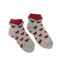 Joya Childrens Socks Woolmix extra thick Hearts red
